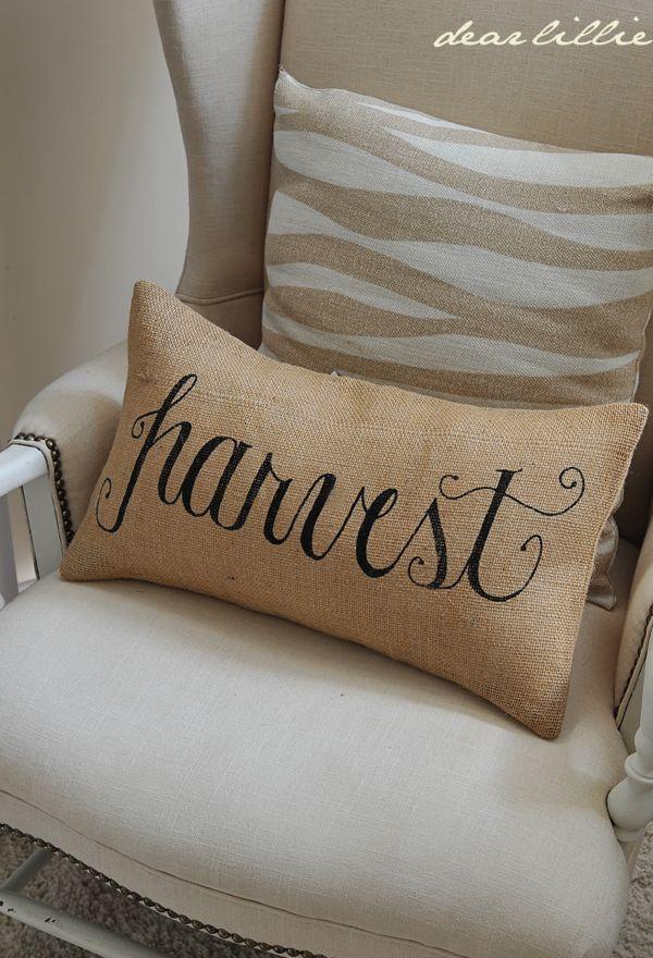 Harvest 12x20 Burlap Pillow Cover In Black Autumn Decor