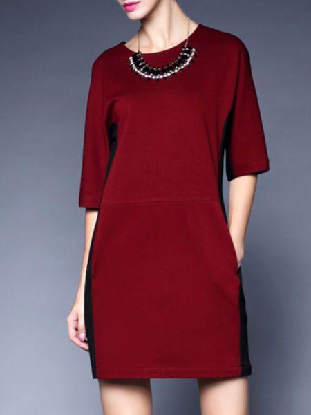 Paneled  #Mini #dress  #stylewe