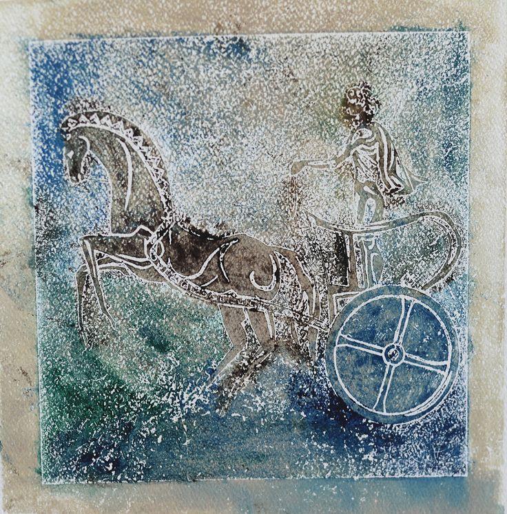 Gallerymak.com - 800 TL / 260 USD  Antik #Roma (Ancient Rome) by Kadir Kaplan - Kağıt üzerine Taş Baskı / #Lithography - 30x30  #gallerymak #sanat #gununkaresi #gallery #resim #tablo #contemporaryart #tarih #rome #gladiator