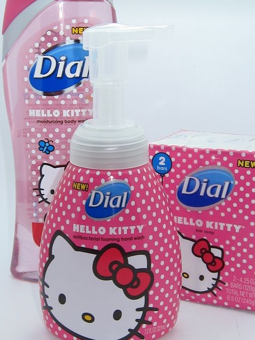 Hello Kitty Dial goodies! I have the body wash and it smells SO good!