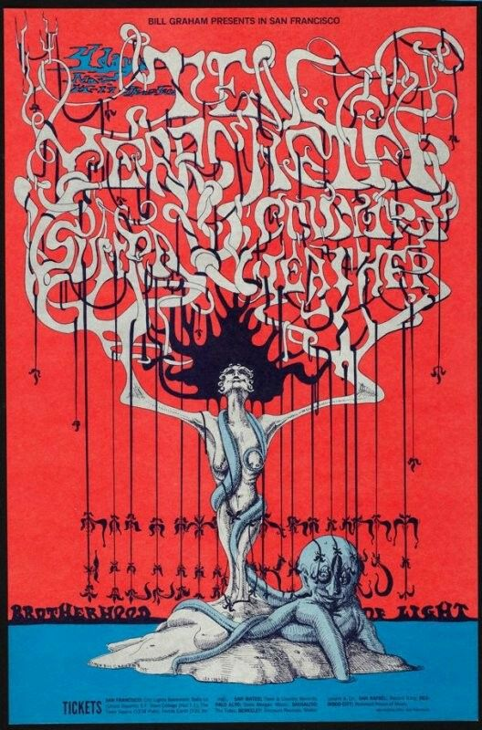 Ten Years After, Country Weather, Sun Ra, November 14 - 17, Fillmore West  Artist:  Lee Conklin  Publisher:  Bill Graham  Printer:  Tea Lautrec Litho  Date:  1967