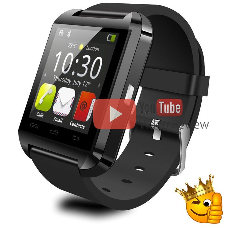 Black U8 Bluetooth Smart Watch Phone Mate For Android, Apple iphone - Smartwatch #UnbrandedGeneric
