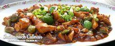 Ayam Peteh Ketjap - Gestoofde kip in kruidige saus met petehbonen