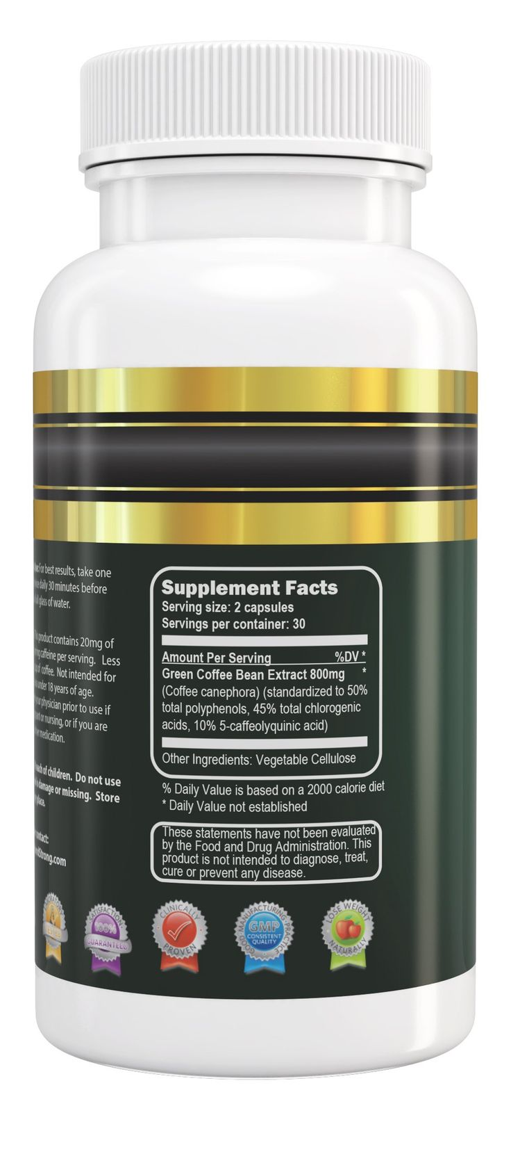 Vital and Strong Green Coffee Bean Extract 120 Count