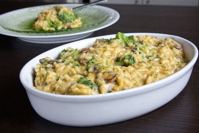 Broccoli and Mushroom Risotto photo