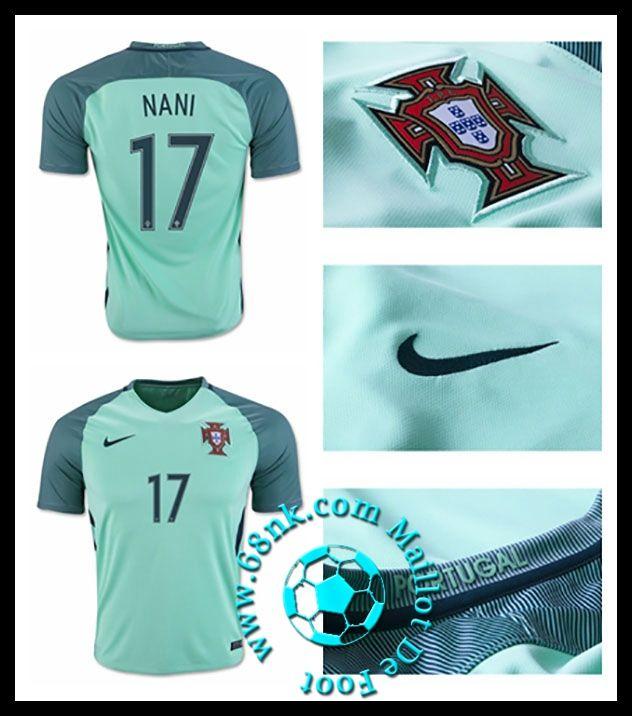 dcouvrez les nouveaux maillots de foot portugal maillot de foot euro 2016 2017 nani homme extrieur