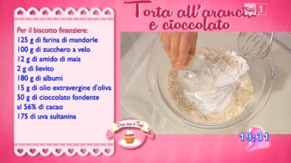 Dolci dopo il tiggì: Dolci dopo il tiggì del 13 marzo 2015: torta all'arancia e cioccolato di Luca Montersino