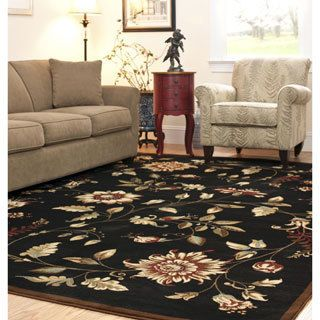 For Safavieh Lyndhurst Traditional Fl Black Multi Rug 5 3 X 7