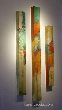 pylons - KAREN JACOBS contemporary and abstract paintings Idee für die alten, ausgemusterten Balken