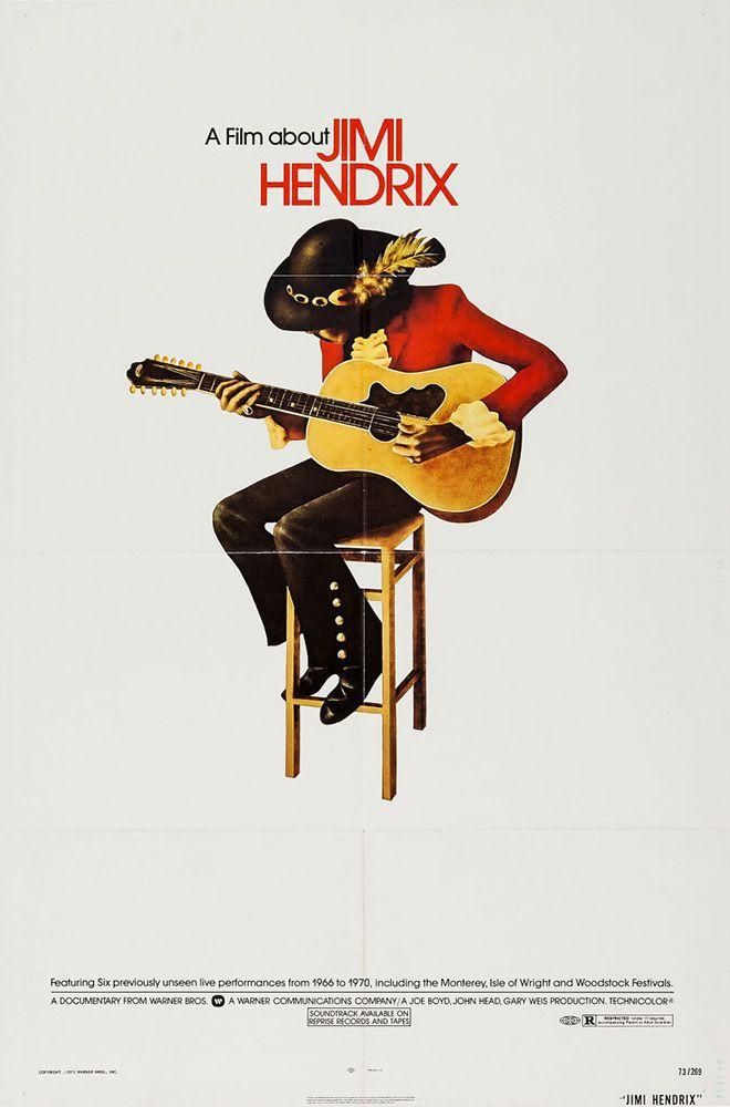 movieposteroftheday:  US one sheet for JIMI HENDRIX (Joe Boyd, John Head & Gary Weis, USA, 1973) Designer: uncredited Poster source: Her...
