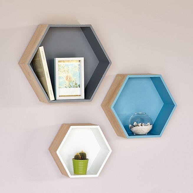 Rush Etagère hexagonale grand modèle