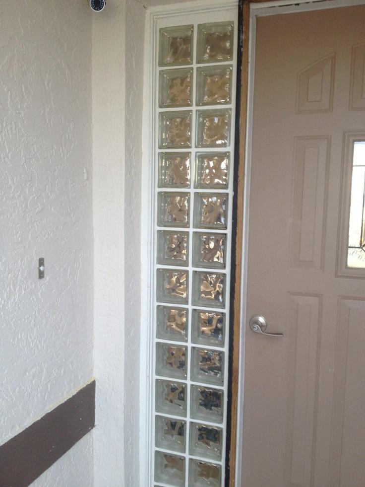 "Glass block ""window""."