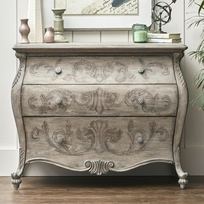 Lassiter Ornate 3 Drawer Accent Chest Accent Chest Comforter