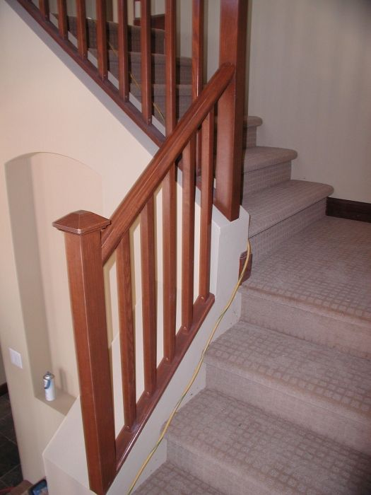 Best Mission Stair Rail Wood Stairs Stair Railings Stair Rails Stair Railing Design Stair 640 x 480