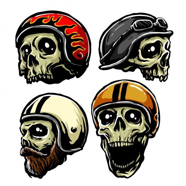 Retro Helmet Skull In 2020 Retro Helmet Skull Helmet