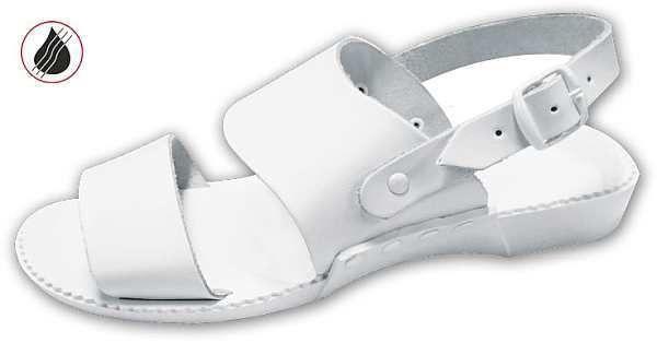papucs 01A fehér, méret:35-40, ISO20347 OB (csak kereskedőknek,előrendelésre kapható)