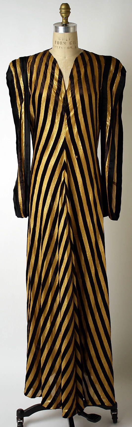1938 Valentina Evening dress  Metropolitan Museum of Art, see more vintage fashion by decade at http://www.vintagefashionandart.com/dresses