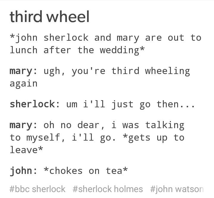 I don't even ship Johnlock but I know a good Johnlock post when I see one