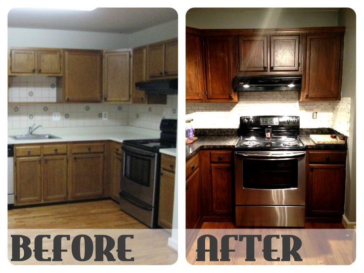 New Kitchen Cabinets Before After best 25+ restaining kitchen cabinets ideas on pinterest | how to