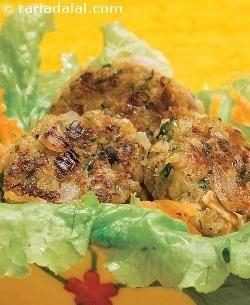Khumbh Ke Kebab ( Healthy Starter Recipe ) recipe | by Tarla Dalal | Tarladalal.com | *vegan*