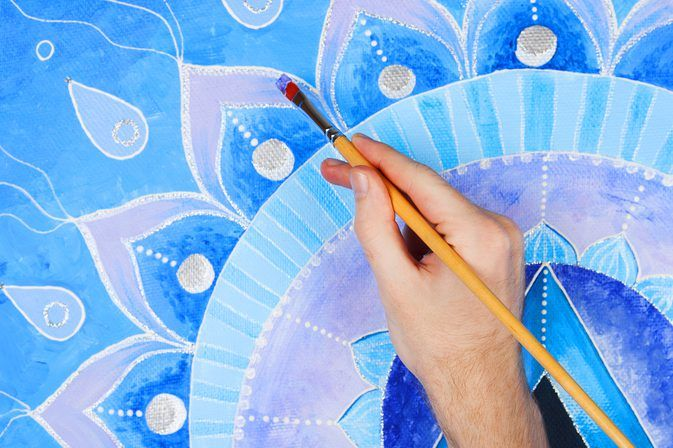 How to Paint Your Yoga Mat