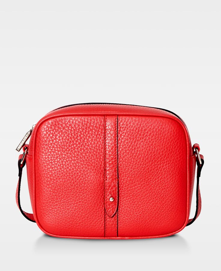 Round Cross Body Bag - Red