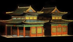 A model of the Kaifeng Synagogue, Henan province, the center of Jewish life in China for over 700 years. Beit Hatefutsot-Museum of the Jewish People, Tel Aviv