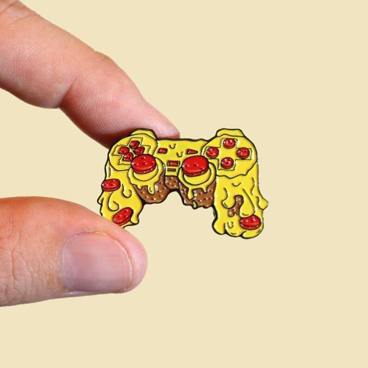 Pizza PS2 Controller pin; so much grease on your controller, it may as WELL be made of pizza