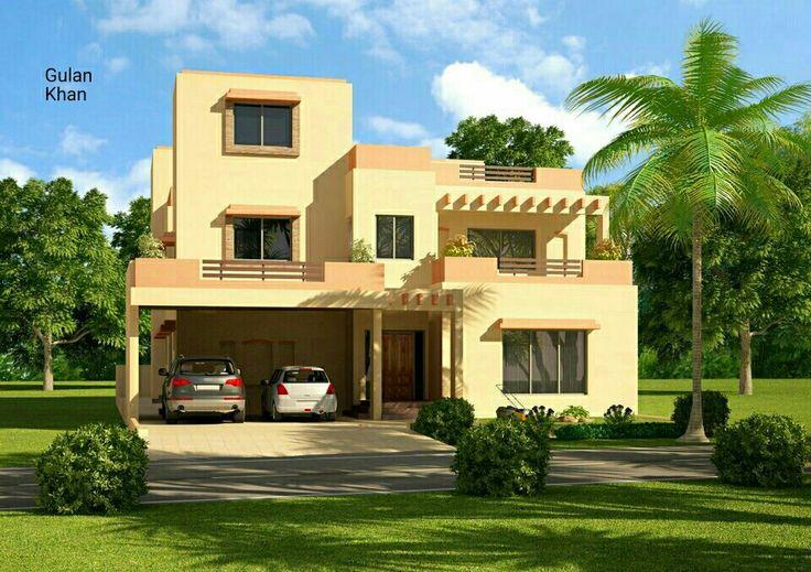 Pakistan | Front garden design, Cottage house plans