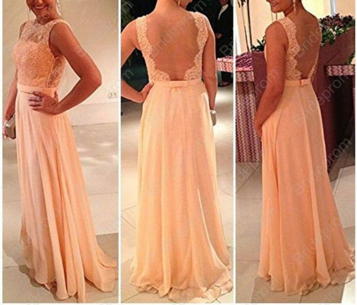 Sheer Tulle Back Prom Dress Top Lace Dress Long Evening Dress Straps Prom Gown Custom color 24