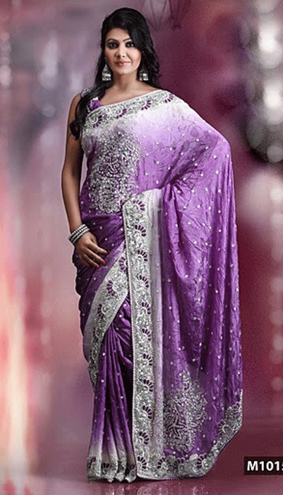 I love purple saris!