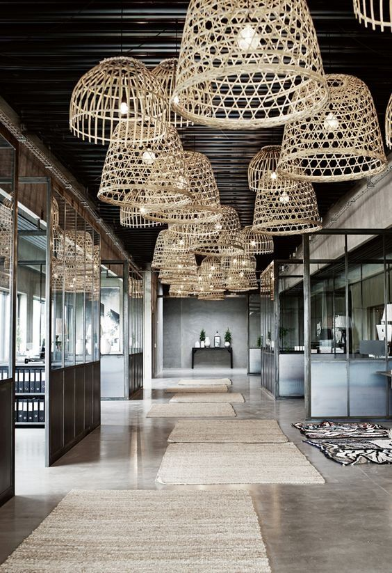A trend in for the long haul- oversized natural woven Bamboo Pendant lights