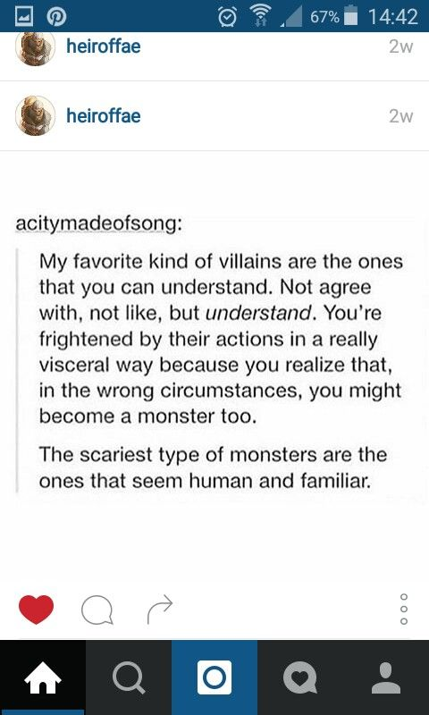 this is true, and that's part of the reason that i don't get scared of horror movies with aliens, because it's scarier to think that a human can harm and hurt another human.