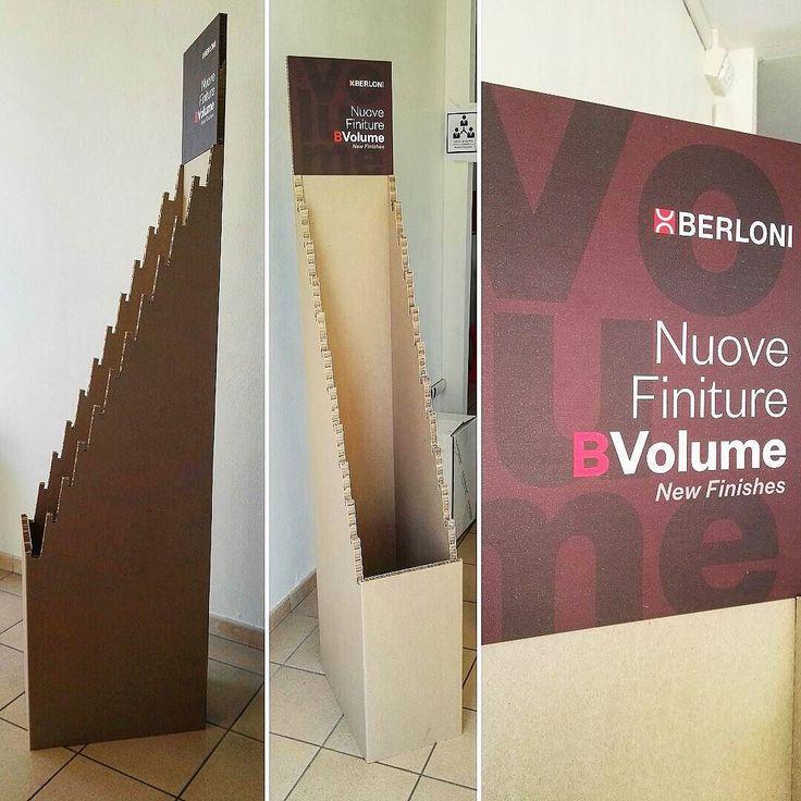 Berloni - Realizzazione espositore in reboard.  #espositore #cartotecnica #reboard #stampa #digitale #digital #print #display #strumenti #fiera #adigital #pesaro