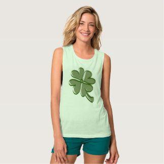 Stylized Shamrock Tank Top #stpatrick #shamrock#charms #luckycharms #stpatricksday #gifts #style #fashion #tshirt #parade #green #irish #ireland #paddy #paddysday #party #luckoftheirish #potofgold #kissme #kissmeimirish #spring #clover #greenday #gotgreen #stpattysday #shenanigans