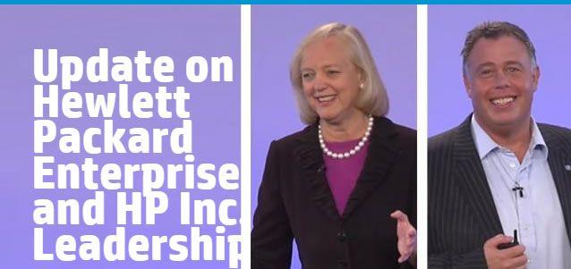 "Meg Whitman presentó el nuevo logo de ""Hewlett Packard Enterprise"" #HPNext"