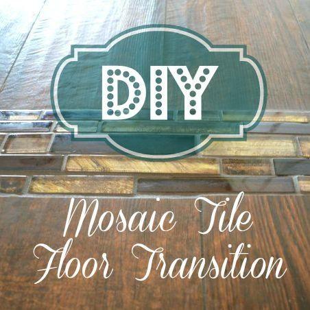 Mosaic Tile Floor Transition