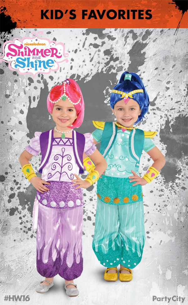 This Halloween, wishes really do come true! Dress your little genie up in a sparkling costume, just like the twins on Nickelodeon's Shimmer and Shine! This officially licensed costume features a pretty blue wig and accessories, as well as a pant and shirt set with glitter accents. Make trick or treating mystical with Party City!