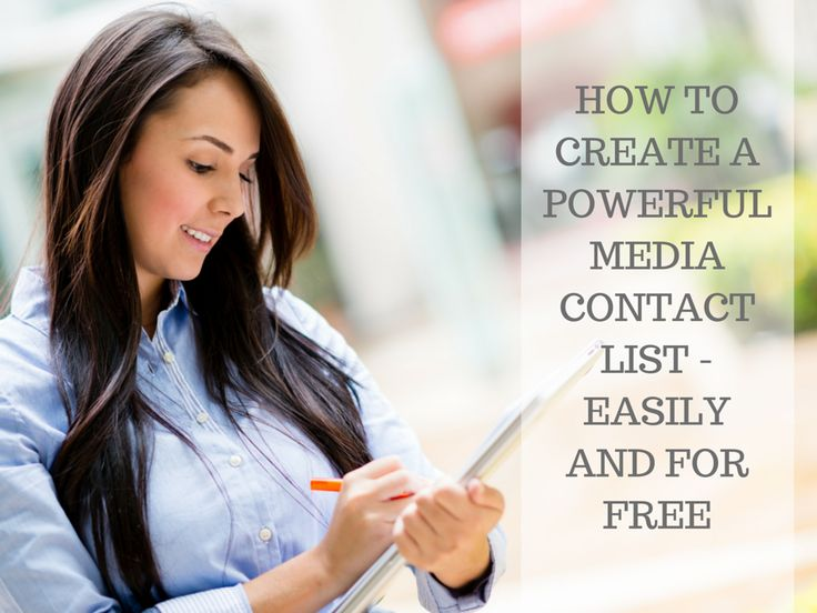 How to create a powerful media contact list - easily and for free!
