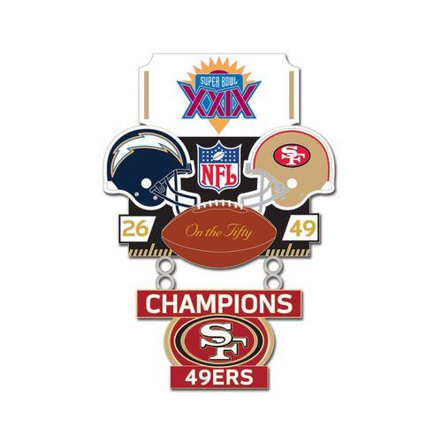 Super Bowl XXIX (29) Chargers vs. 49ers Champion Lapel Pin