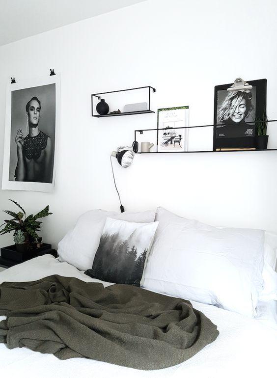 Bedroom rack shelves