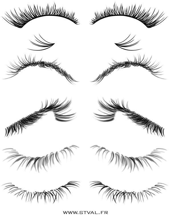 Eyelashes Brushes by StephanieVALENTIN on DeviantArt