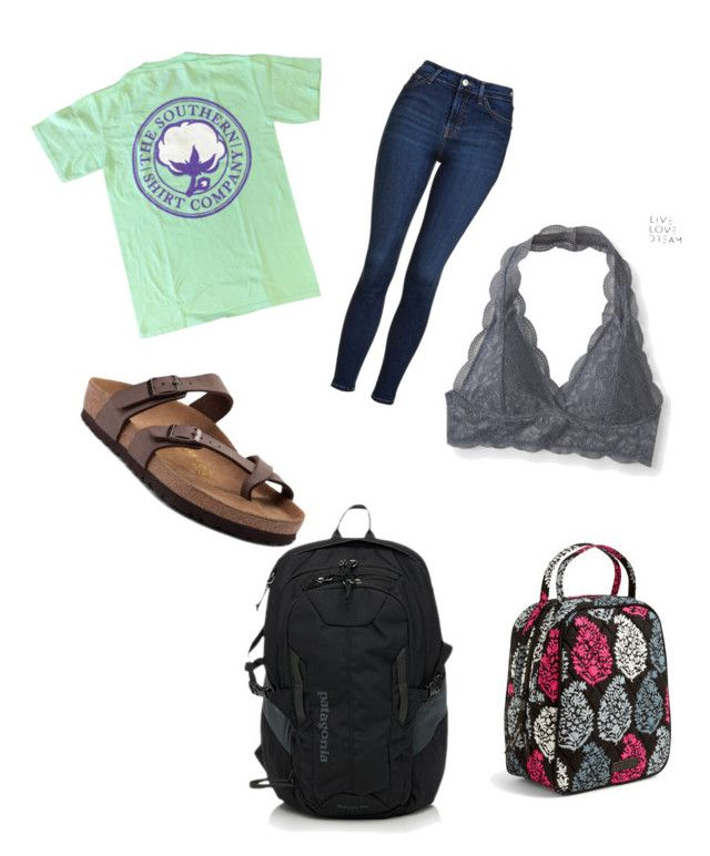 """""""Untitled #11"""" by kaywhittt on Polyvore featuring Aéropostale, Patagonia, Vera Bradley, Birkenstock and Topshop"""