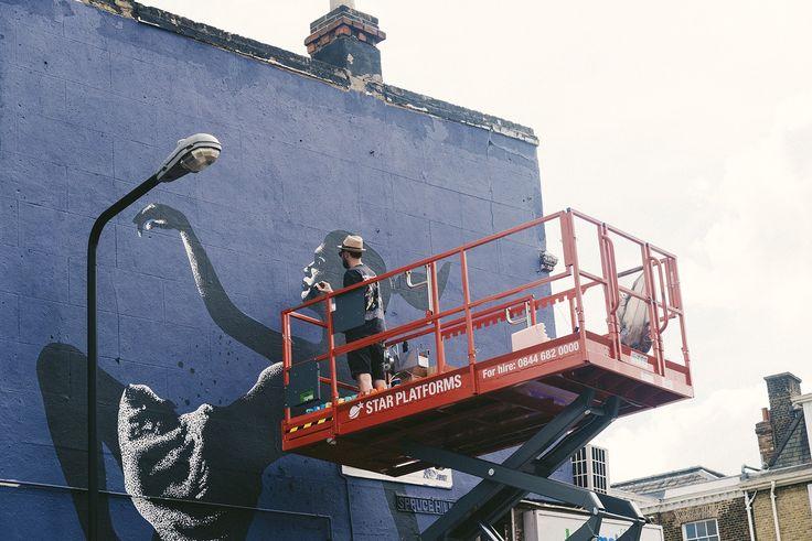 "eelus wood street walls   Trip the Light Fantastic"" by Eelus in London   StreetArtNews"