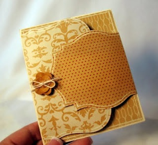 Card with cool fold