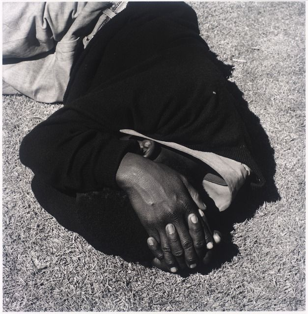 David Goldblatt, 'Man sleeping, Joubert Park, Johannesburg. 1975, from the series Particulars,' 1975; printed 2010, San Francisco Museum of Modern Art (SFMOMA)