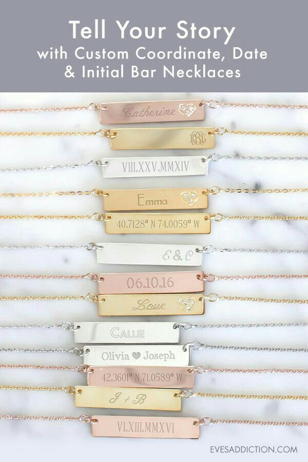 Engravable jewelry makes great gifts. And keeps great memories close to you. #sdjoy #stellaanddotstyle