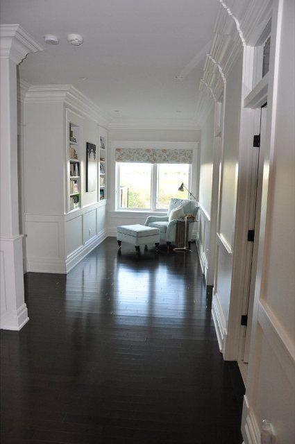 I love these dark/black wood floors!