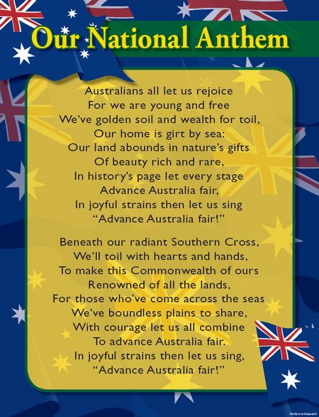 National Anthem - Advance Australia Fair