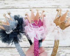 Corona niña diadema/princesa brillo corona/Tiara por APPLEMINTHOUSE